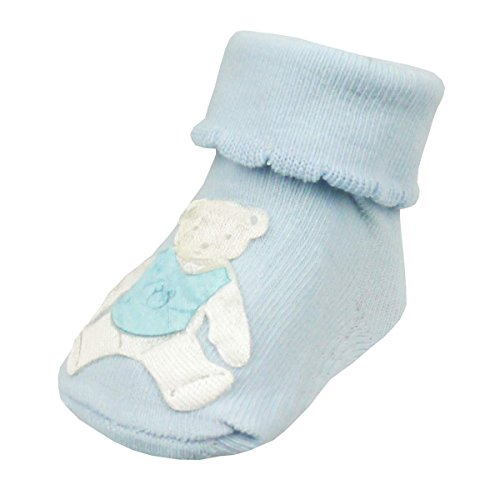 Touch Socks Blue Pink Blue Or Soft Teddy Bear Baby White xpdnAaI