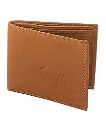 Vagan-kate leather plain tan wallet for men