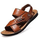 Zapatillas de Playa para Hombre,Baño Antideslizante con Fondo Suave y Zapatillas Ligeros Respirable Zapatillas de Exterior Zapatos Verano Negro Marron 38-48 riou