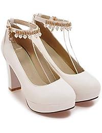 QIN&X Chaussures Femmes Sandales Talon Bas Flip Flop,41,Gris