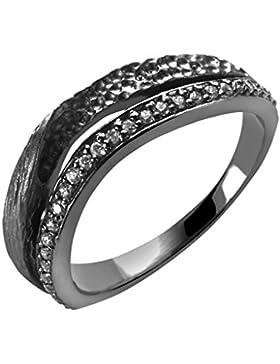 Orphelia Damen-Ring Silber vergoldet Zirkonia weiß Brillantschliff Gr. ZR-6030/1/50