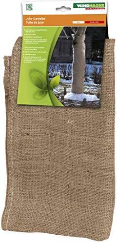 Windhager Tissu Non-tissé pour Jardin de Toile de Jute Tapis de Protection d'hiver Froid Protection antigel, idéal Aussi pour décorer, 0,91 x 4 m, Marron, 06585