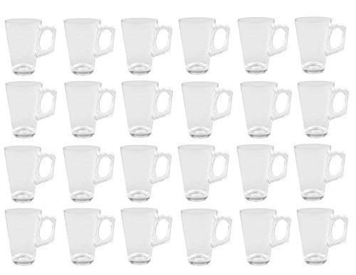 24er Set Glühweingläser Sky Mug - 225ml Glühweinglas / Teeglas mit Henkel
