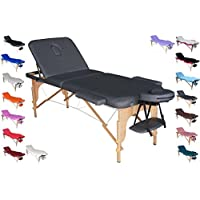 POLIRONESHOP VENERE Camilla profesional portátil plegable para masajes tratamientos de estética esteticista fisioterapia depilación reconstrucción y