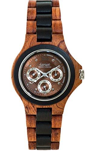 TENSE Premium // Northwest - Karriholz // Black Oak - Herren Holz-Uhr G4300RD-BR