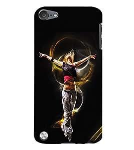 Fuson 3D Printed Dance Designer Back Case Cover for Apple iPod Touch 5 - D706
