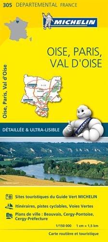 Carte Oise, Paris, Val-dOise Michelin