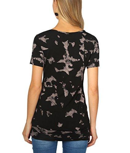 KRISP® Femmes Basic Long T-Shirt Tunique Uni Coleur Beige (5080)
