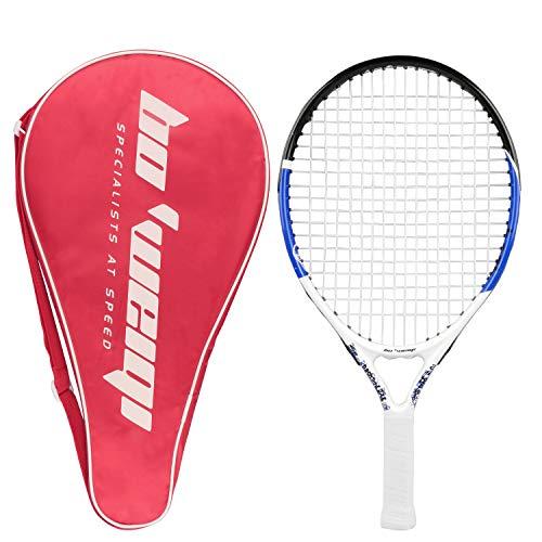 Raqueta de tenis junior, bastidor de aluminio de carbono de 19.7 Inch Raqueta de tenis para niños colgada con bolsa de almacenamiento, ideal para niños Niños Entrenamiento deportivo de niños y niñas (50cm)