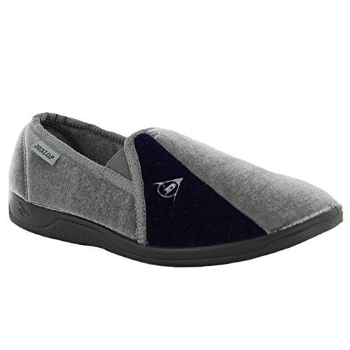 Dunlop , Herren Hausschuhe Grau/Schwarz
