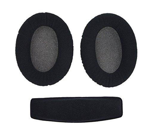 WINGONEER Ear Pads velour Cushion Headband For HD515 HD555 HD595 HD518 HD558 Headphones