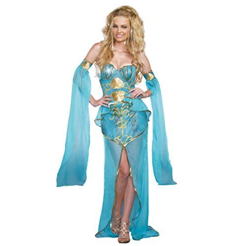 Dreamgirl Kostüm Meerjungfrau Deluxe Damen Kleid hellblau Unterwasserwelt Nixe S, M, L (M) (Dreamgirls Kostüm Größentabelle)