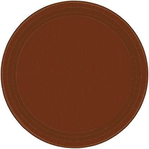 Amscan International 22.8 cm Paper Plates Chocolate Brown, Pack of 24