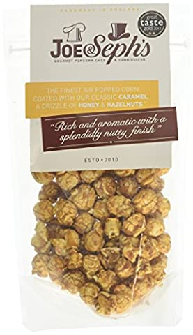 Joe and Sephs Honey and Hazelnut Popcorn 80 g (Pack of 3)