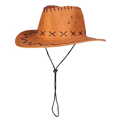 Revolverheld Kostüm Cowboy - Amosfun Western Cowboy Hut Revolverheld Hut Kinder Texan Hut Kostüm Party Zubehör gelb