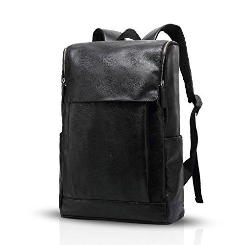 Fandare zaino da 15.6 pollici laptop zaino affari escursionismo viaggi studente zaino anti-furto multi-funzionale uomo/donna impermeabile pu nero