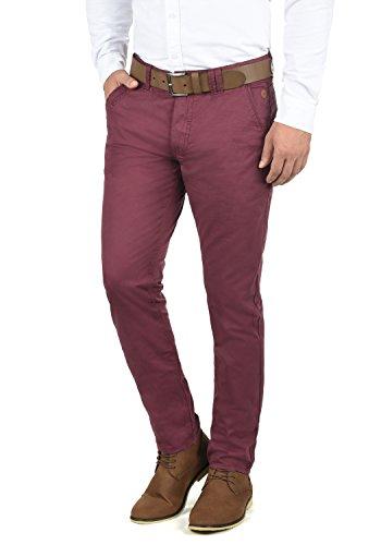 Blend Tromp Herren Chino Hose Stoffhose Aus 100% Baumwolle Regular Fit, Größe:W38/32, Farbe:Zinfandel (73006) Herren-skinny-leder-jeans