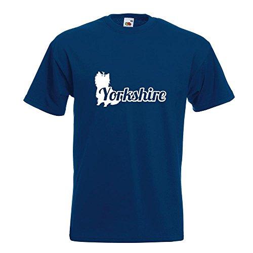 KIWISTAR - Yorkshire mit Name Terrier T-Shirt in 15 verschiedenen Farben - Herren Funshirt bedruckt Design Sprüche Spruch Motive Oberteil Baumwolle Print Größe S M L XL XXL Navy