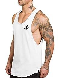 SEVENWELL Men Performance Tank Top Gym Sport Tee Active Casual Muscle Sleeveless Shirt a4ckPodXa
