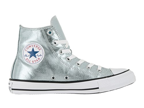 Converse - Unisexe Chuck Taylor All Star Salut Top Chaussures Metallic Glacier/White/Black