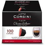 Caffè Corsini - Classico Italiano Miscela di Caffè in Capsule Compatibili Nescafè DolceGusto, Gusto Forte e Deciso - Confezio