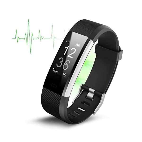 Yilaiker ID2 Plus Smart Fitness Wristband Bracelets Tracker Heart Rate Bluetooth 40 Exercise TrackerHeart Rate Monitor Smart Watch For Android Samsung S8 Plus IOS IPhone 7 8 Plus Smartphones