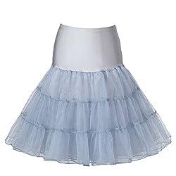 Boolavard 50's Petticoat Underskirt Retro Vintage Swing 1950's Rockabilly White, Black 14 Colours