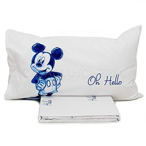 Caleffi completo lenzuola letto singolo topolino
