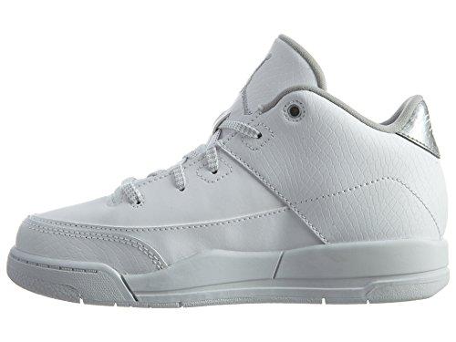 Nike Jungen Jordan Flight Origin 3 Bp Basketballschuhe Weiß (White / Metallic Silver-White)
