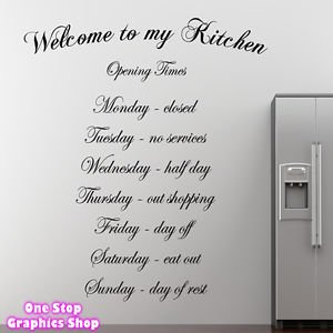 Great 1Stop Graphics   Shop Welcome To My Kitchen Wall Art Quote Sticker    Kitchen Dining Room Part 30