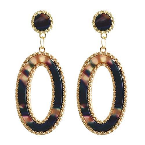 UINGKID Damen Ohrringe Mode Ohrstecker Persönlichkeit Kreative Acetat Platte Geometrie Lange Ovale Schmuck