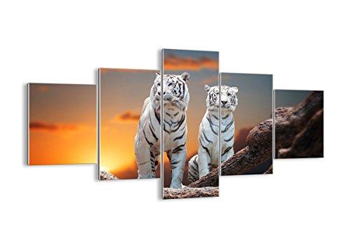 Cuadro sobre vidrio - Cuadro de cristal - 5 piezas - Ancho: 125cm, Altura: 70cm - Foto número 2901 - listo para colgar - Pinturas en vidrio - impresiones sobre vidrio - Cuadro en vidrio - GEA125x70-2901
