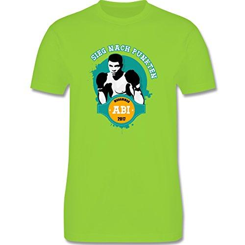 Abi & Abschluss - Muhammad ABI - Sieg nach Punkten 2017 - Herren Premium T-Shirt Hellgrün