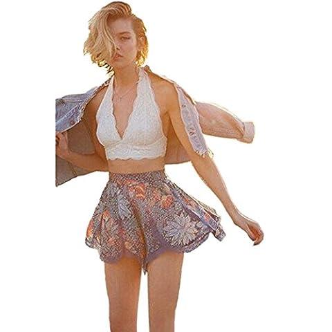 Soutien-gorge,Winwintom Femmes Floral Lace Bralette Bralet Bustier Cami Unpadded Réservoir (XL, Blanc)