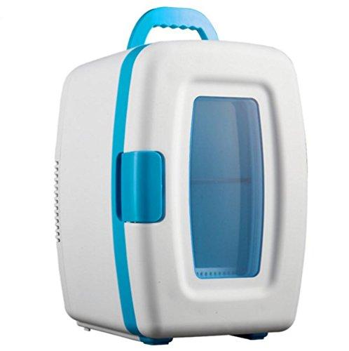 AMYMGLL 10L à double coeur voiture à domicile petit réfrigérateur voiture portable à domicile double tension 12V 220V alimentation à domicile 50 (W) matière plastique poids 3kg taille 22 * ??28 * 34 * cm