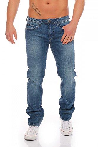 BIG SEVEN - JAKE - MONTANA WASH - Regular - Super Stretch XXL - Herren Jeans Hose, Hosengröße:W34/L32 (Geprägte Jeans Elasthan)