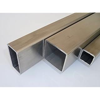 B&T Metall Edelstahl Vierkantrohr 30x30x2.0 mm V2A (1.4301) geschliffen K240 in Längen à ca. 2 mtr. (+0/-3 mm)