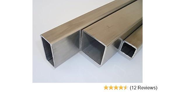V2A 20 x 20 x 2,0 L=1250 mm geschliffen K240 Edelstahl-Vierkant-Rohr