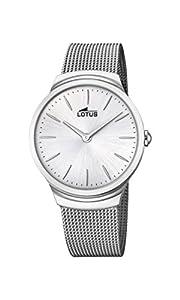 Lotus Watches Reloj Análogo clásico para Hombre de Cuarzo con Correa en Acero Inoxidable 18493/1