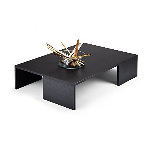 Mobilifiver Rachele Tavolino da Salotto, Legno, Pino Nero, 90x60x21 cm