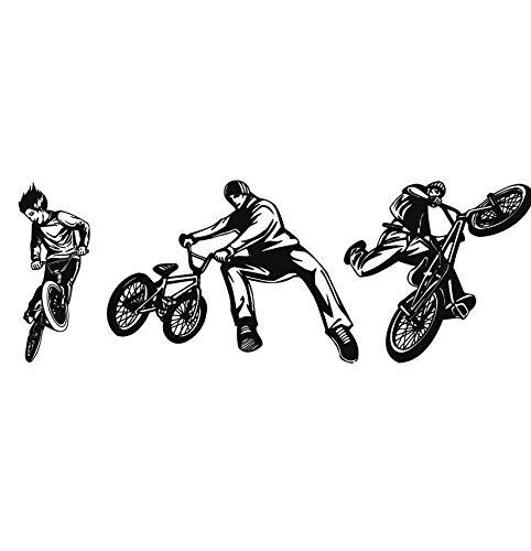 Hwhz 31 X 88 Cm Riders Tricks Flips Bmx Und Radfahren Wand Aufkleber Sport Decor Art Decals