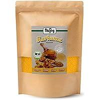 Biojoy Cúrcuma BÍO (Curcuma) en polvo | producida de raíces desecadas de cúrcuma bío | súper comida de la India | ideal para té, especia, leche de oro, cúrcuma latte o pasta | Curcumin Turmeric polvo en paquete cerrable (1 kg)