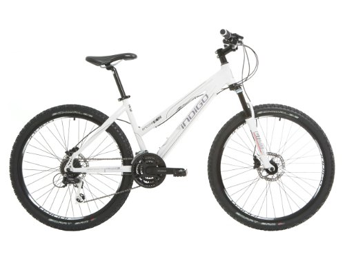 Indigo Women's Encore XC1.0 Performance Mountain Bike - (White, 18 Inch, 26 Inch)