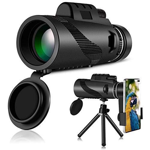 HWeggo Telescopio Monocular, 40 x 60 HD Monocular Impermeable monoculo telescopio portatil para Viajes...