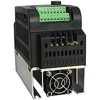 Aishah 220V 0.75KW Entrada monofásica 220V Convertidor de frecuencia de salida trifásica Profesional 9100-1T-00075-G 4A VFD Inversor (negro)