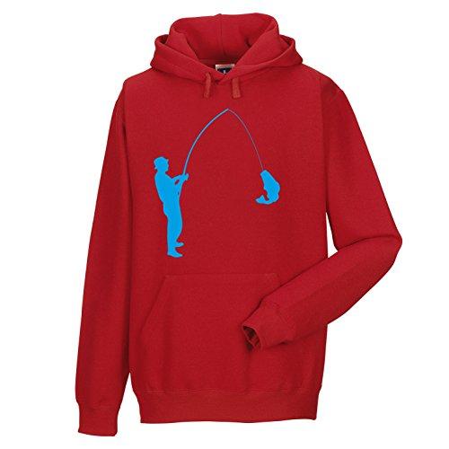 Shirt-Checker -  Felpa con cappuccio  - Uomo Rosso/Blu