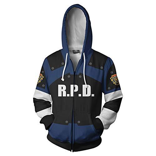 Inspiriert Von Resident Evil Cosplay Anime Cosplay Kostüme Cosplay Hoodies Print/Patchwork Hoodie Für Unisex,A,2XL (Anime Inspirierte Kostüm)