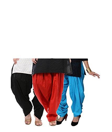 Ngt Women's Cotton Patiala Salwar Combo (PATBLRDSB_Black