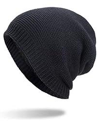 Kobay Cappellino in Maglia Invernale Caldo Unisex in Cotone Solido 285facf66e89