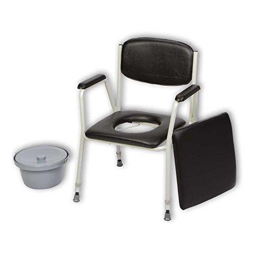 Behrend Toilettenstuhl TS 100 Nachtstuhl WC Stuhl, höhenverstellbar, Eimer, Abdeckplatte